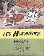 """55 - Les Humanistes Par Pécub  Le Père Noël Et Son Cerveau """" Fendant Cave Taillefer Sierre"""" - Humour"""