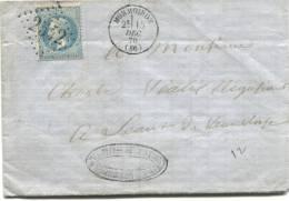 MORMOIRON (Vaucluse) Gros Chiffres 2542 Sur N° 29 + Cachet Type 16. - 1849-1876: Période Classique