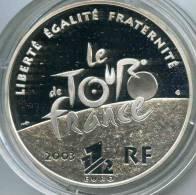 France 1 1/2 Euro 2003 100 Ans Du Tour De France Argent BE Proof PP KM 1325 - France