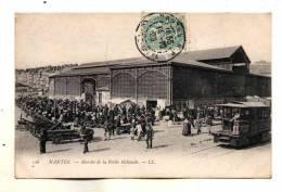 Nantes Belle Animation Au Marche De La Petite Hollande Tramway Carte LL N° 126 Ecrite En 1906 - Nantes