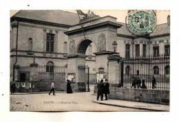 Nantes Portail D'Entrée Cour Et Facade De Hotel De Ville Petite Animation Collection Decré Ecrite En 1906 - Nantes