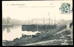 78 MAURECOURT / Les Péniches Et Le Pont Viaduc De Fin D'Oise / - Maurecourt