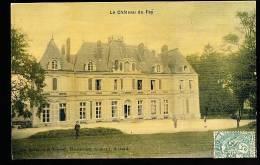 78 MAURECOURT / Le Château Du Fay / BELLE CARTE COULEUR TOILEE - Maurecourt