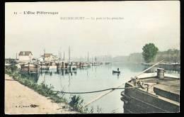 78 MAURECOURT / Le Port Et Les Péniches / BELLE CARTE COULEUR - Maurecourt