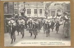 BRUXELLES      CORTEGE  DES  SAISONS   JUILLET  1910    LES  SAUTERELLES  VERTES - Festivals, Events