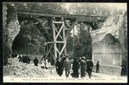 CPA. CAMPAGNE DE 1914-1915.. Pont De Chemin De Fer Entre Amiens Et Rouen, Détruit Par Les Allemands. - Amiens