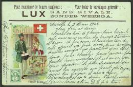 """""""Facteur Suisse"""",  A Postman Of The World (number 24)  """"Switzerland"""",  Postally Used  1906. - Postal Services"""
