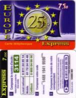 FRANCE PREPAID EUROPE EXPRESS PIECE COIN 25€ FLAG DRAPEAU UT - Timbres & Monnaies