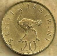 TANZANIA 20 SENITI  BIRD FRONT MAN HEAD BACK 1966 KM? READ DESCRIPTION CAREFULLY !!! - Tahiti