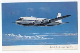 TRANSPORT AIRPLANE B.O.A.C. ARGONAUT SPEEDBIRD OLD POSTCARD 1957. - 1946-....: Moderne