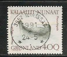 GREENLAND - GRONLAND  - FAUNA MARINE  -  Yvert # 199 - USED - Greenland