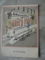 Artiste-CPA Will Halle: Die Verwechslung, Zwei Handwerker Montieren über Einem Dessous-Geschäft     D88247 - Halle, Will