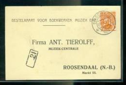 Nederland Postkaart Met NVPHno. 111 Gestempeld Enschede-2 22-IX-1924 En Bestellersstempel (22398) - Periode 1891-1948 (Wilhelmina)
