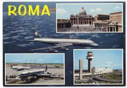 TRANSPORT AERODROMES ROMA ITALY BIG POSTCARD - Aerodrome