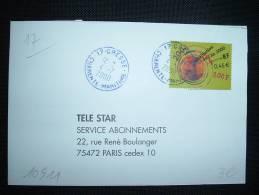 LETTRE TP CELEBRATION DE L´AN 2000 3,00F OBL. DE COULEUR VIOLETTE 4-7-2000 CRESSE (17 CHARENTE MARITIME) - Curiosità: 2000-09 Storia Postale