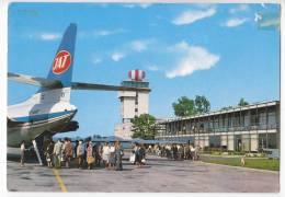 TRANSPORT AERODROMES ZAGREB CROATIA YUGOSLAVIA BIG POSTCARD 1970. - Aerodrome