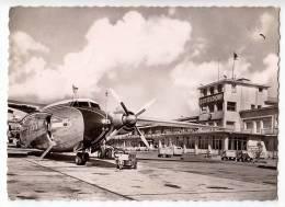 TRANSPORT AERODROMES DUSSELDORF GERMANY BIG POSTCARD 1959. - Aerodrome