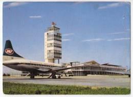 TRANSPORT AERODROMES BEOGRAD SERBIA YUGOSLAVIA BIG POSTCARD 1967. - Aerodrome