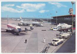 TRANSPORT AERODROMES LEONARDO DA VINCI FIUMICINO ROMA ITALY BIG POSTCARD 1985. - Aerodrome