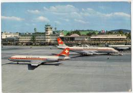 TRANSPORT AERODROMES KLOTEN ZURICH SWITZERLAND BIG POSTCARD - Aerodrome