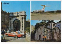 TRANSPORT AERODROMES PULA CROATIA YUGOSLAVIA BIG POSTCARD 1973. - Aerodrome