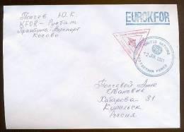 Military Cover Mail Used Field Post KFOR RUSSIA Yugoslavia - Militaria