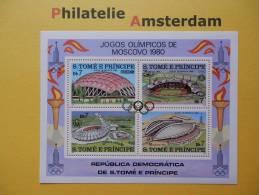 S. Tomé E Principe 1980, OLYMPICS OLYMPIADE OLYMPIQUES / LAKE PLACID: Mi 637-40, Bl. 43, ** - Winter 1980: Lake Placid