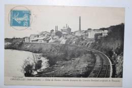 CROUZILLES - Usine De Paviers - Chemin De Fer - Circulée 1921 - Francia