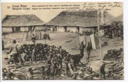 Belgisch Congo Belge CP Vue 32 Entier 10c Petite éraflure C.Boma En 1914 AP278 - Entiers Postaux
