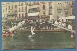 FRANCIA - GIVORS - JOUTES NAUTIQUES - CARTOLINA VIAGGIATA NEL 1914 - High Diving