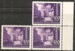 Croazia 1942 Nuovo** - Yv. 57  3x - Croazia