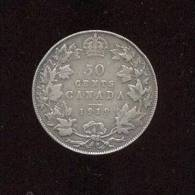 Canada -  50 Cents  -  Argent - 1919  -  TB+ - Canada