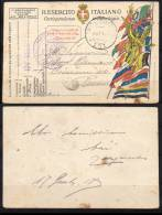 ITALIA - ITALIE - ITALY - CARTOLINA POSTALE IN FRANCHIGIA - TIMBRO 124° REGGIMENTO FANTERIA - 1900-44 Victor Emmanuel III