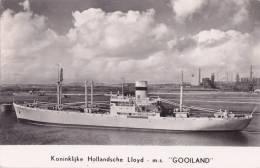 """¤¤  -   Carte Photo Du Cargo Hollandais   """" GOOILAND """"  -  Bateau De Commerce    -  ¤¤ - Commerce"""