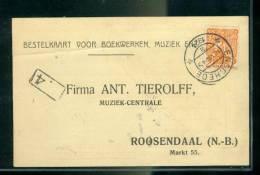 Nederland Postkaart Met NVPHno. 111 Gestempeld Enschede 18-VIII-1924 En Bestellersstempel (22410) - Periode 1891-1948 (Wilhelmina)