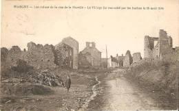 MARGNY Les Ruines De La Rue De La Marelle  MILITARIA - Francia