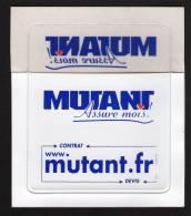 Autocollant  Pour Vignette Automobile Sticker Assurances MUTANT FRANCE - Autocollants