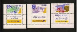 France, 2640, 2689, 2744, Neufs **, TTB, Métiers De La Poste, Services Financiers, Tri Postal, Accueil - Ongebruikt