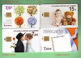 4 TELECARTES *** RECENTES *** TTBE *** - France