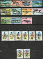 St Lucia 1983-1985 - Selection Of Used To Very Fine Used Officials SGO1-O11 & O13-O22 Cat £21.60 SG2015 - St.Lucia (1979-...)