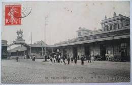 93 : Saint-Denis - La Gare - Animée - Attelage - Saint Denis