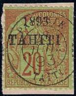 TAHITI - 25   20C BRIQUE SUR VERT ALPHEE DUBOIS CACHET SPLENDIDE