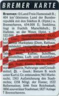 Bremer Karte - Tramticket,Straßenbahnfahrkarte - Visitenkarte - Ohne Zuordnung