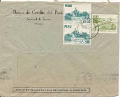 Peru Air Mail Cover Sent To Denmark 17-7-1956 - Peru