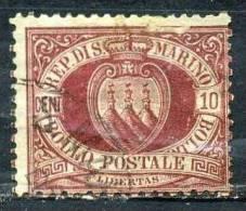 SAINT MARIN 28° 10c  Rouge-brun (20% De La Cote + 0,15 €) - Saint-Marin