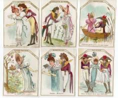 Almanac, Calendrier Rimmel 1882, 12 Mois Complêt En 6 Chromos - Trade Cards