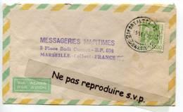 - Cover From FORTALEZA, Brasil, Brésil, 1972, Timbre De 1968, To Messageries Maritimes, Marseille, Scans. - Brazilië