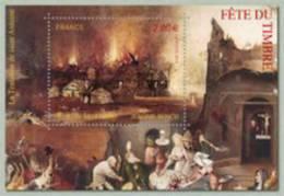 Bloc Fête Du Timbre 2012 - Le Feu, Jerome Bosch - Sheetlets