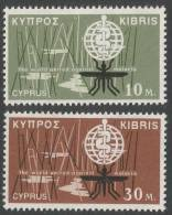 Cyprus. 1962 Malaria Eradication. MH Complete Set. SG 209-210 - Unused Stamps