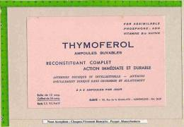 BUVARD / Produit Pharmacie THYMOFEROL Ampoules Buvables - Produits Pharmaceutiques